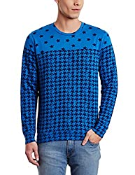 United Colors of Benetton Mens Cotton Sweatshirt (8903975026162_15A3067J9340I05QM_Medium_Royal Blue)