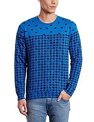United Colors of Benetton Mens Cotton Sweatshirt (8903975026162_15A3067J9340I05QM_Medium_Royal Blue)