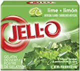 JELL-O Gelatin Dessert, Lime, 6-Ounce Boxes (Pack of 6)