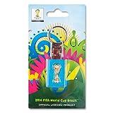 World Cup 2014 Porte clé Trianon Coupe du Monde officiel FIFA en 2D Jaune 28 x 44 mm