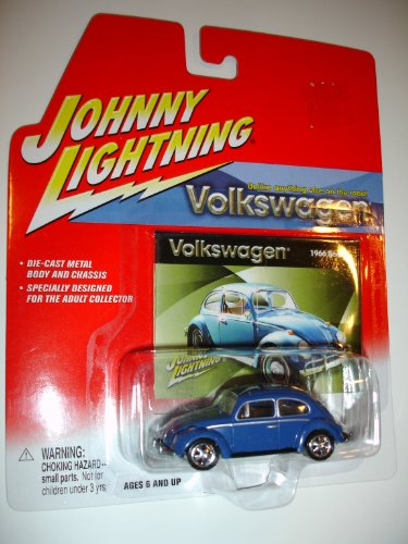 Johnny Lightning Volkswagen Release 1 1966 Beetle Dark Blue by Playing Mantis - 1