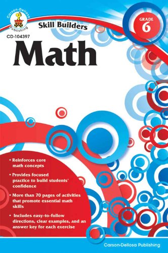Skill Builders Math Workbook, Grade 6 - 1