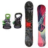 DEFIANCE メンズ スノーボード2点セット 152サイズ レッド+MLグリーン