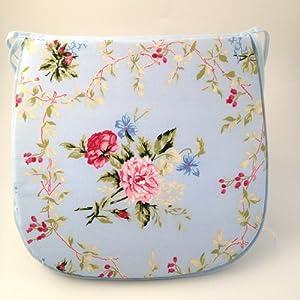 Large Blue Pink Green Floral Design Tie On Carver Chair Kitchen