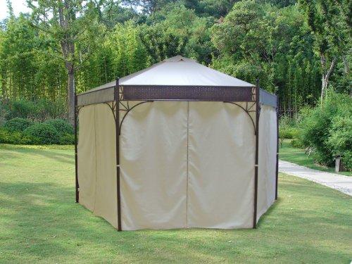 pavillon 6 eckig metall bestseller shop. Black Bedroom Furniture Sets. Home Design Ideas