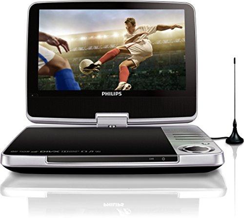 PD9025/12 Tragbarer DVD-Player (23 cm (9 Zoll) LCD, DVB-T, USB, DVD-RW) silber
