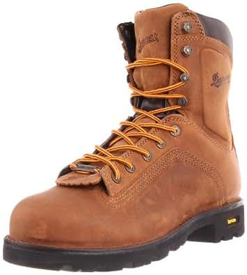 Danner Men's Quarry 8 Inch Alloy Toe Work Boot,Distressed Brown,7 EE US