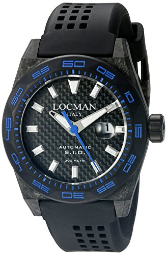 Locman-Italy-Mens-0216V3-CBCBNKBS2K-Stealth-300-Metri-Analog-Display-Automatic-Self-Wind-Black-Watch