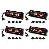 おもちゃ Venom ベノム 35C 2S 5200mAh 7.4V LiPO Battery with Universal Plug x4 Packs [並行輸入品]