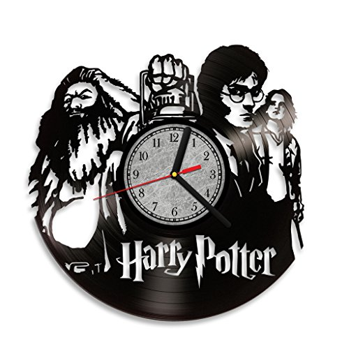 [Harry Potter Hermione Hagrid Vinyl Record Wall Clock. Costume Home decor.Perfect gift for your kids, children and] (Dobby Harry Potter Costumes)