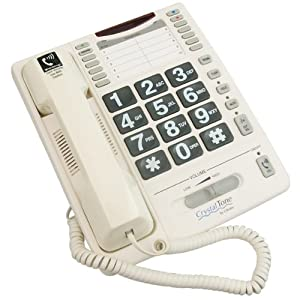 CrystalTone 35dB Amplified Big Button Telephone from Ultratec