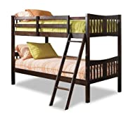 Stork Craft Caribou Bunk Bed, Espresso