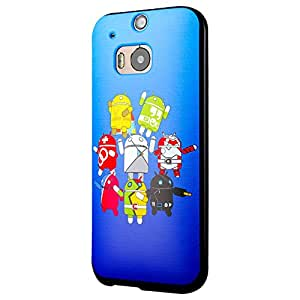 HTC One M8 Case, Cruzerlite Print Cases (PC Case) Compatible with HTC All New One (M8) 2014 - Sho Baba GOGO Blue
