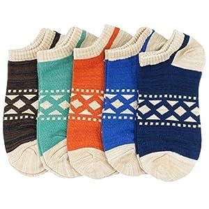 卓上棉品 靴下 メンズソックス カジュアルソックス アンクル 5足セット