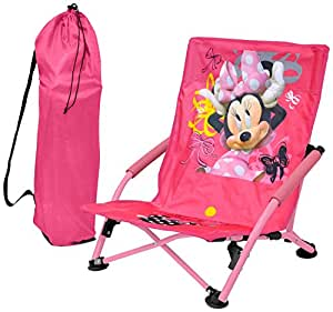 Amazon Com Disney Minnie Mouse Folding Lounge Chair Toys