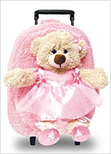 Dancing Ballerina Bear Backpack/Rollerboard with Removable Animal by Pecoware