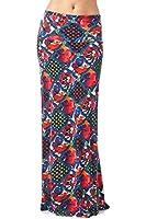 82 Days Women'S Poly Span Floral Prints Maxi Skirt - Flower