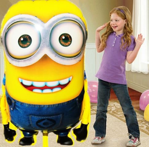 1PCS 92*65cm Hot Sale Minions Inflatable Balloons For Holidays Despicable Me 2 Large Size Foil Ballon Children Toys by Completestore
