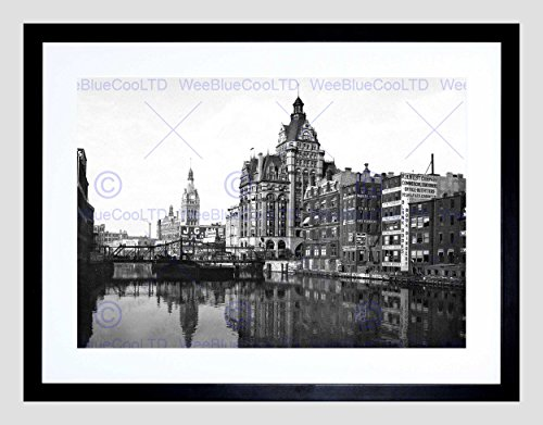 the-river-from-sycamore-street-milwaukee-1901-old-bw-framed-art-print-b12x1133
