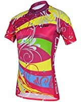Baleaf Women's Short Sleeve Cycling Jersey 3D Padded and Shorts Kit