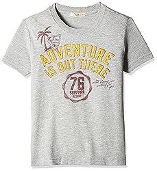 Fox Boys' T-Shirt  (Grey Melange_8 years_337292)