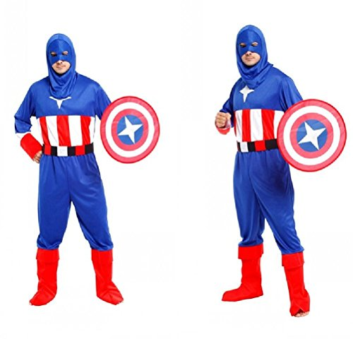 Ponce Adult Halloween Cosplay Costumes League Captain America Shield