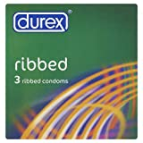 Durex Ribbed Condoms - 3 Pack
