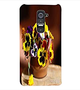 ColourCraft Flowers Back Case Cover for LG G2