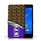 IChoose® Designer Chocolate Bar Cases for Sony Xperia Z3 Compact / Protective Hard Back Case Cover / Mars, Galaxy, Flake & Others Collection / Wrapped Block/Slab