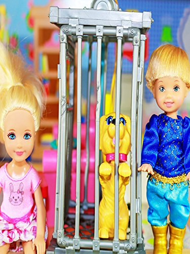 Disney Frozen Kids Toby Dog Sitting Disney Barbie Parody Chelsea KidKraft Dollhouse Puppy Toy