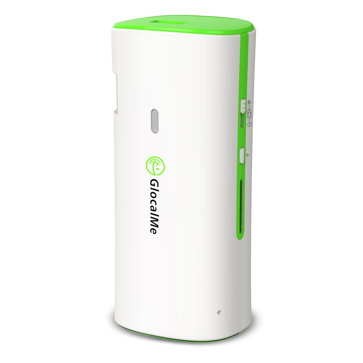 (GREAT SALE!!)Glocalme® 3G Mobile WiFi Hotspot SIM-Free & Free Roaming Support Over 108 countries Featured Ethernet Travel Router & Power Bank (Green)