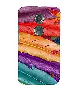PrintVisa Feathers Pattern 3D Hard Polycarbonate Designer Back Case Cover for Motorola Moto X2