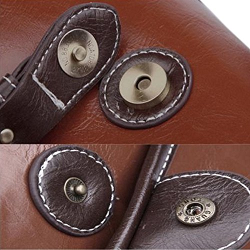 Topixdeals Vintage Look Britpop DSLR Waterproof Camera Bag for Canon Nikon Sony Pentax Red Brown 5