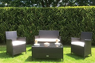 The Windsor - 4 Piece Rattan Garden Sofa Set incl Coffee Table