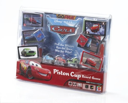Go Pak: CARS - Piston Cup Board Game