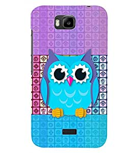 PrintDhaba OWL PATTERN D-7058 Back Case Cover for HUAWEI HONOR BEE (Multi-Coloured)