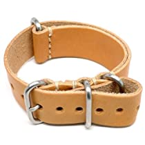 DaLuca NATO Watch Strap - Natural Essex (Matte Buckle) : 24mm