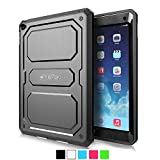 Fintie Apple iPad Air 2 Case - CaseBot Tuatara Series Rugged Unibody Dual Layer Hybrid Full Protective Cover with Built-in Screen Protector and Impact Resistant Bumper for iPad Air 2 (2014 Model), Black