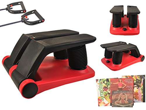 2015 New Air Stepper Climber Exercise Fitness Thigh Machine W/DVD Resistant Cord