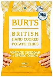 Burts Potato Chips Mature Cheddar 40 g (Pack of 20)