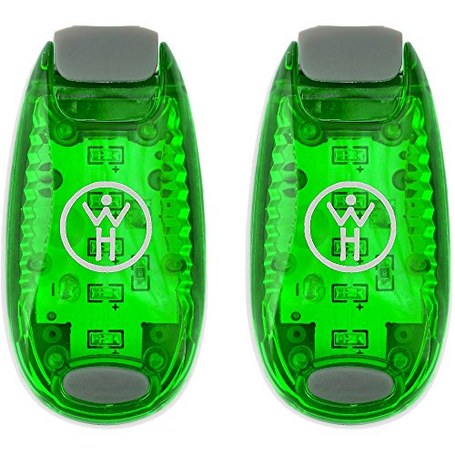Whole Human LED Safety Lights (2 Pack) - Green (Running Safety Light Vest compare prices)