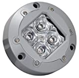 Vision X XIL-U40W Subaqua White Narrow Beam Underwater LED Light with Four 3 Watt LEDs
