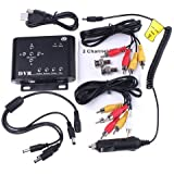 Andoer 2CH Car Security Mini DVR SD Video/Audio CCTV Recorder DC 12V M-JPEG and Standard JPEG