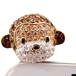 e-zone Earphone Jack Accessory 1pcs Of Crystal 3D Monkey Crystal Pearls / Dust Plug / Ear Jack For For Iphone 4 4S / Samsung / iPad / iPod Touch / Other 3.5mm Ear Jack