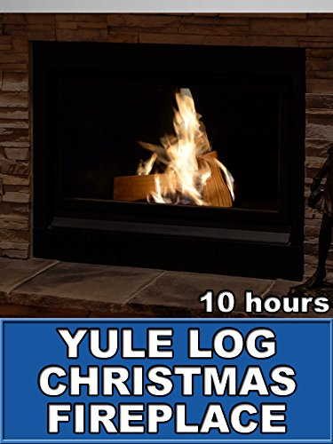 Yule Log Christmas Fireplace 10 Hours