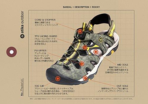 (アティカ)Atika New メンズ アウトドア スポーツサンダル tesla ROCKY [トレイル・アウトドアサンダル・ウォーター・シャワー・アクアシューズ・ランニング・登山] AT-M104 (NV, 290)