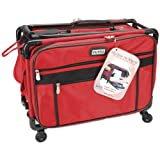 TUTTO Machine On Wheels Case 20&quot;X13&quot;X9&quot;-Red