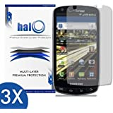 Halo Screen Protector Film Invisible (Clear) for Samsung Droid Charge (3-Pack) - Premium Japanese Screen Protectors