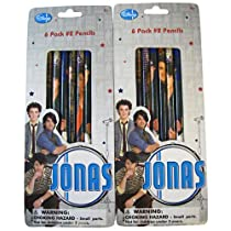 Disney Jonas Brothers 6 Pack Number 2 Pencils Case Pack 24