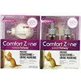 Comfort Zone with Feliway Cats Diffuser and Additional 2-Pack Refills Combo